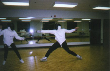 "Yours Truly Getting a ""Touch"" While Fencing"